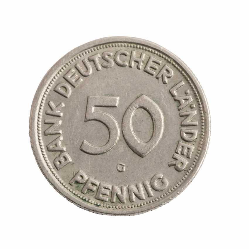 BRD 50 Pf 1950/G, Bank deutscher Länder, VF-XF, - photo 1
