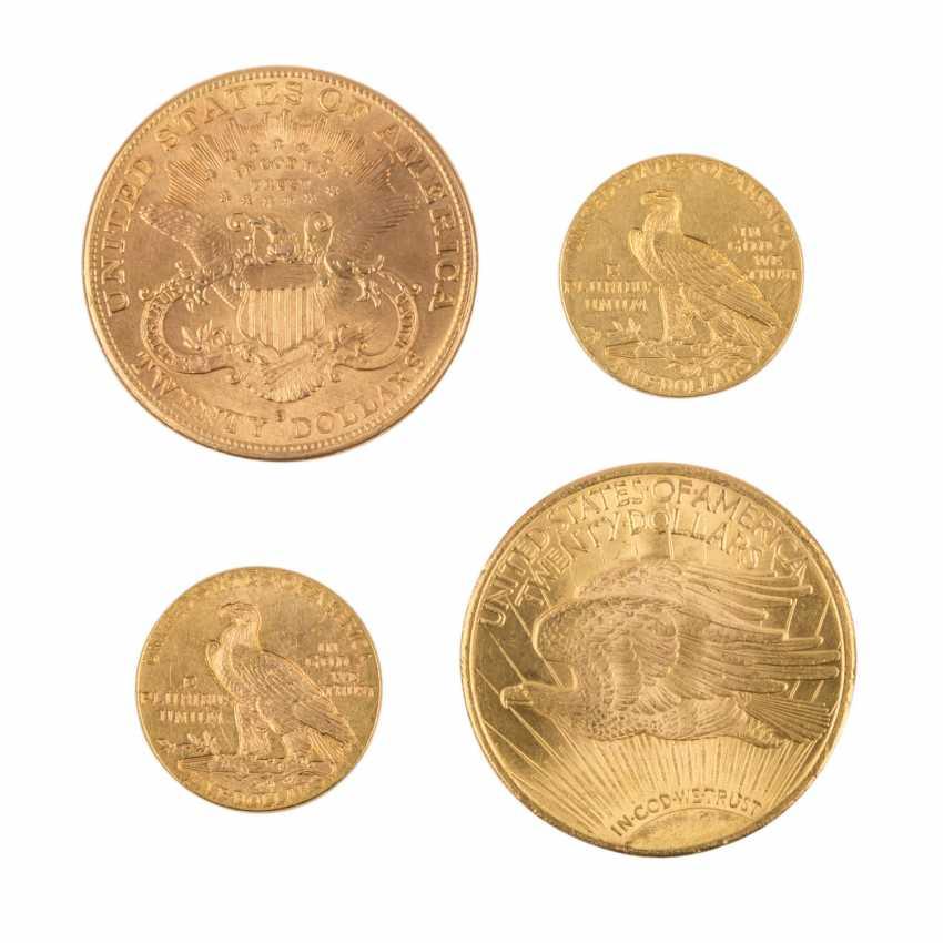 USA/GOLD - Lot mit 20 Dollars 1924 St. Gaudens, - Foto 2