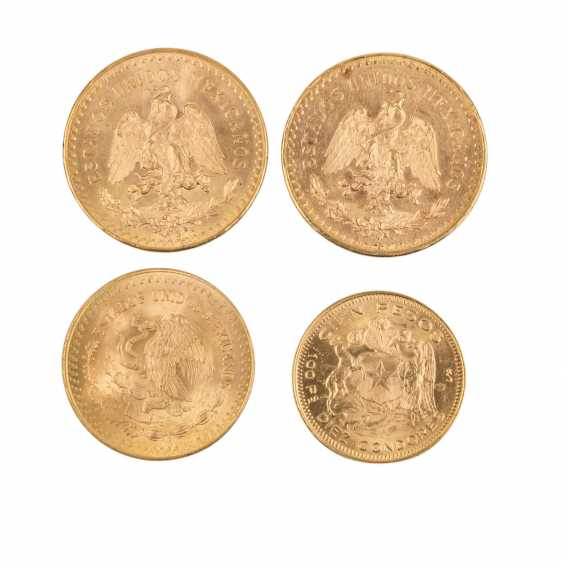 Mexiko/Chile/GOLD - Lot mit 2 x 50 Pesos 1947, - photo 1