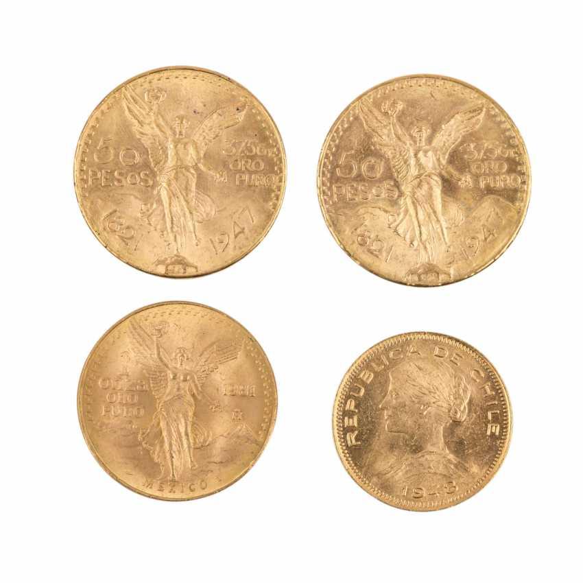 Mexiko/Chile/GOLD - Lot mit 2 x 50 Pesos 1947, - photo 2