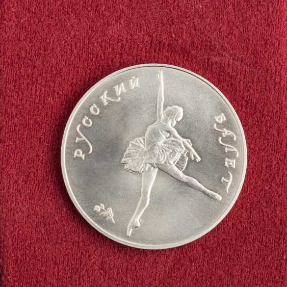Russia/PALLADIUM and SILVER - bundle with 2 x 25 rubles 1991 Ballerina, - photo 4