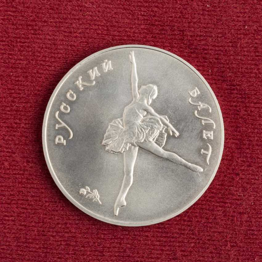 Russia/PALLADIUM and SILVER - bundle with 2 x 25 rubles 1991 Ballerina, - photo 5