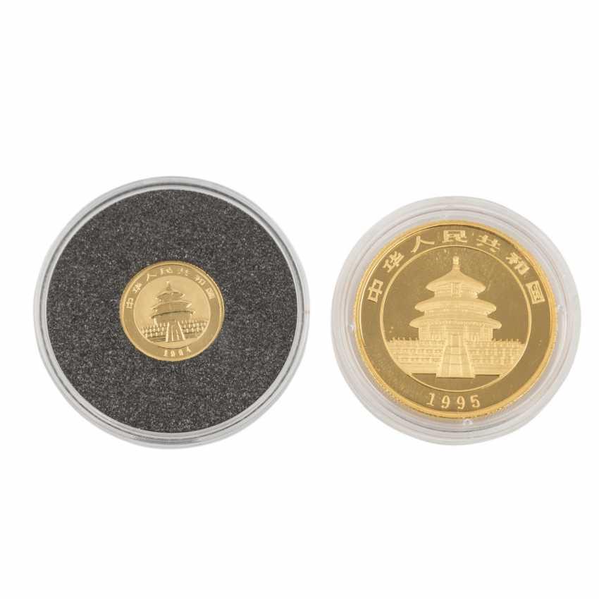China/GOLD - 50 Yuan 1995 1/2 Unze fein, - photo 1