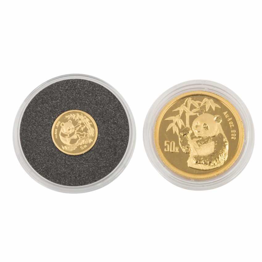 China/GOLD - 50 Yuan 1995 1/2 Unze fein, - photo 2