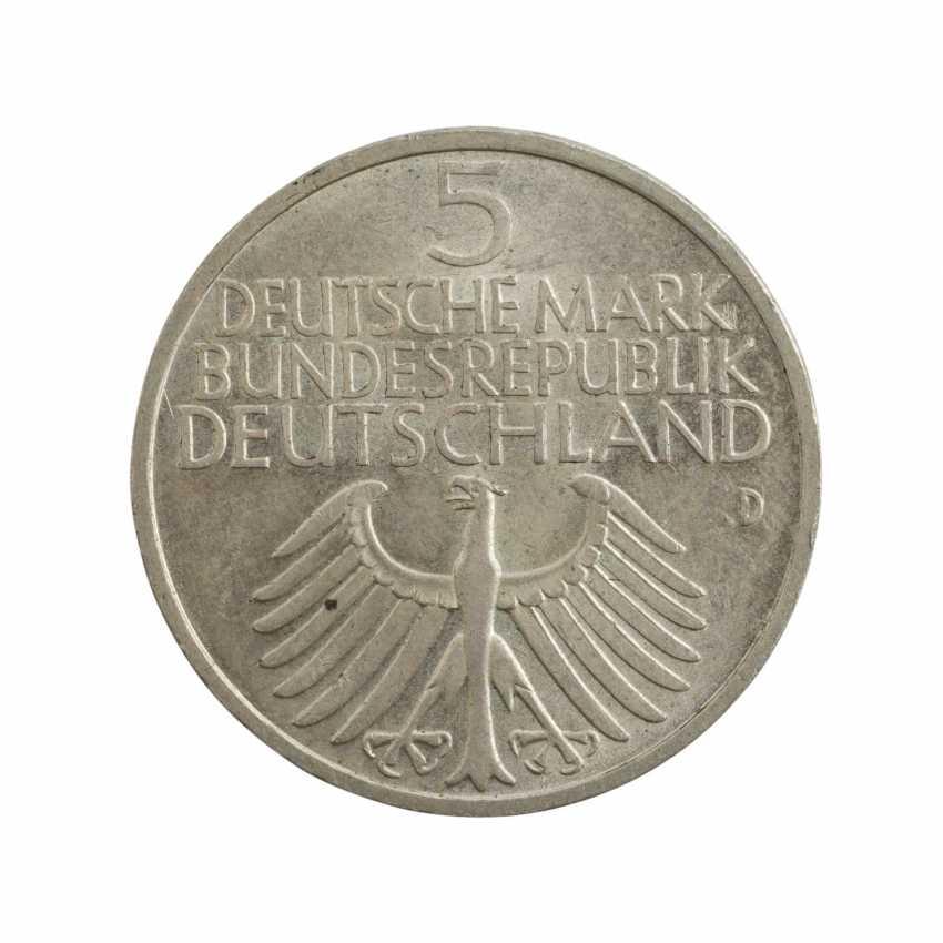 BRD 5 DM 1952/D, Germanisches Museum, ss-vz, verdigris, - photo 1