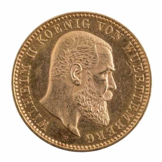 Württemberg/GOLD - 10 Mark 1893 F, - photo 1