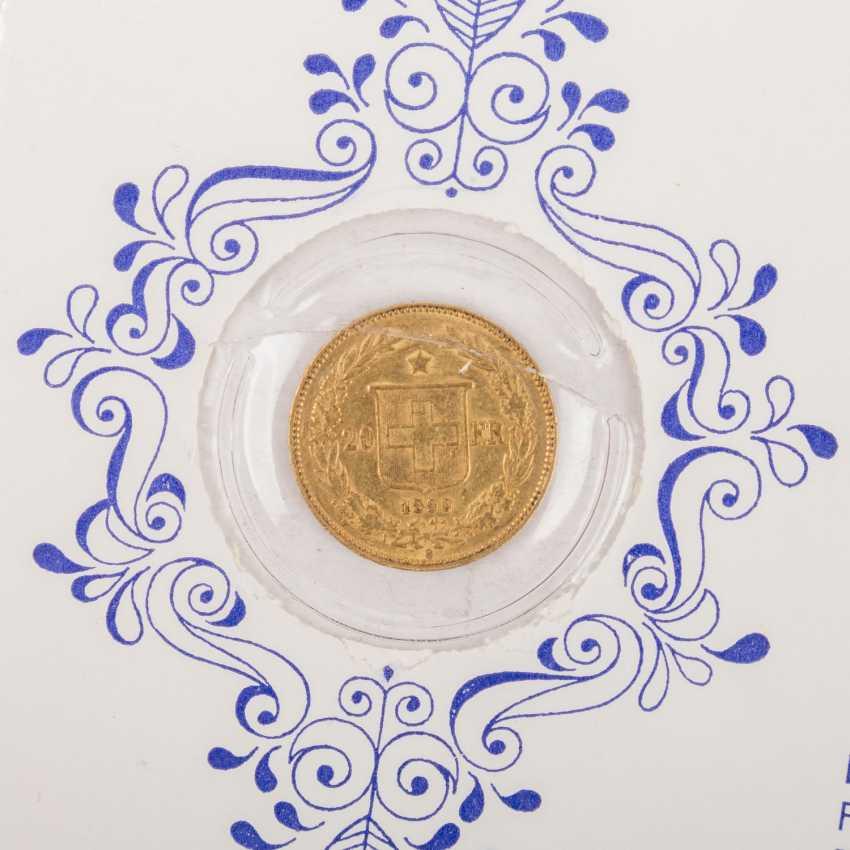 Switzerland - 20 Francs 1890, - photo 3