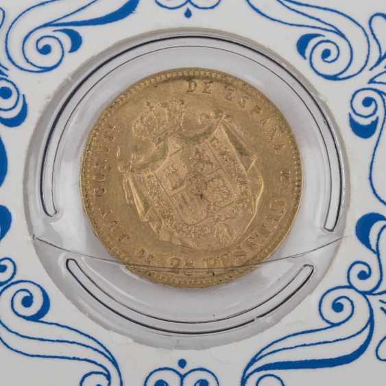 Spain - 25 Pesetas, 1878, - photo 3