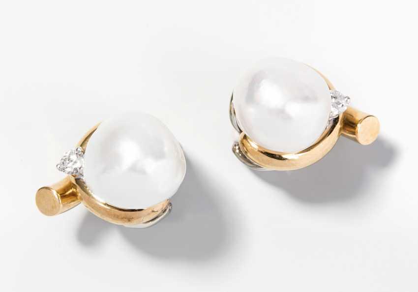South Sea Cultured Pearls-Brilliant-Ohclips - photo 1