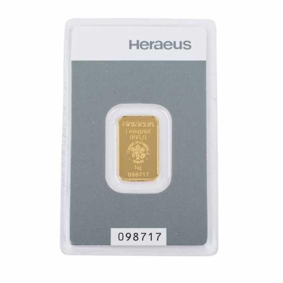 GOLD bar 5 g, HERAEUS, - photo 1