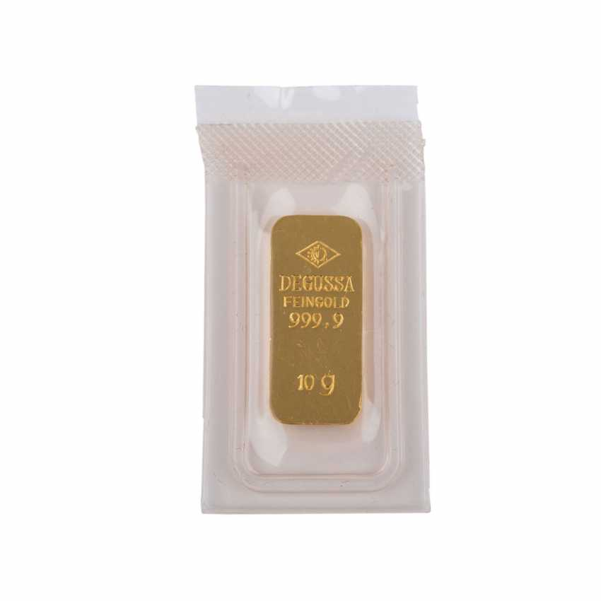 GOLDBARREN 10 g, DEGUSSA, - photo 1