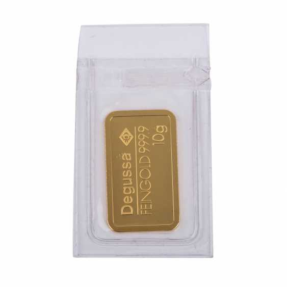 GOLDBARREN 10 g, DEGUSSA, - photo 1