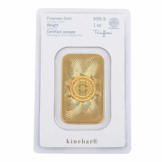 Gold bullion 1 ounce, HERAEUS, - photo 2