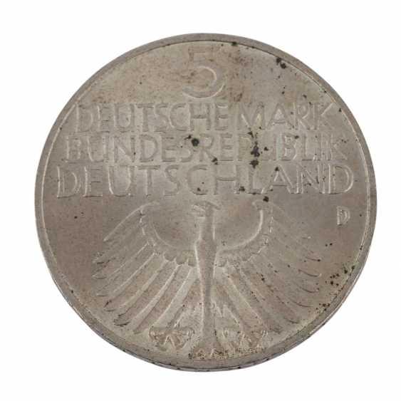 BRD 5 Deutsche Mark 1952 D, - photo 2