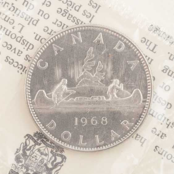 Silver mixed lot, among other things, Canada 3 x 10 Dollars 1976 Montreal, - photo 5