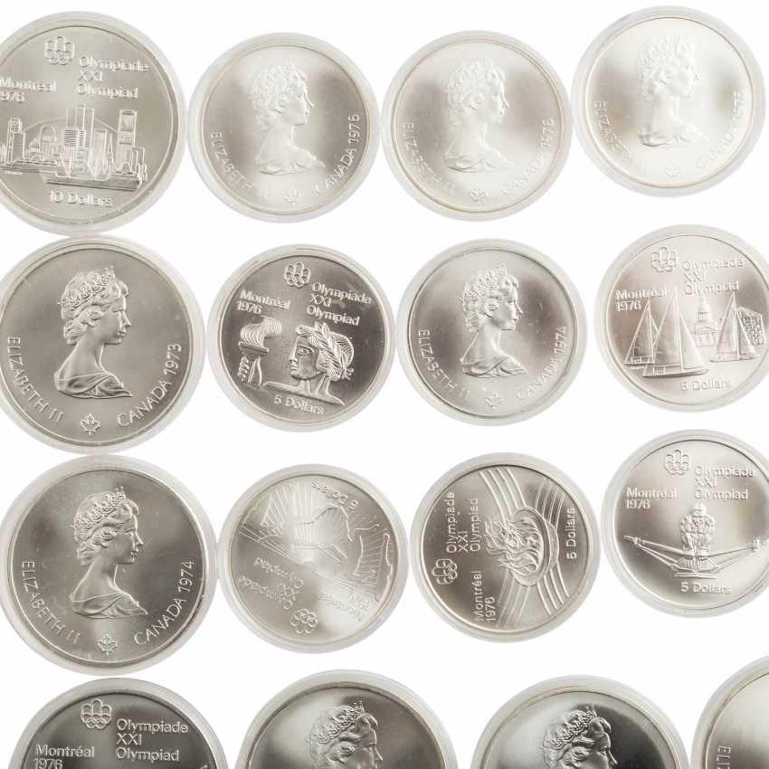 "Canada-SILVER-commemorative medals-Set ""Montreal 1976"" - - photo 2"