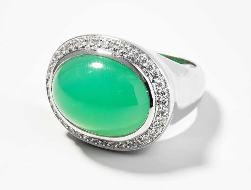 Chrysopras-Brillant-Ring - photo 1