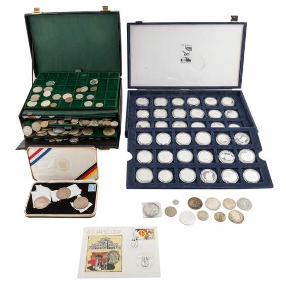 Collection of coins, silver coins theme - photo 1