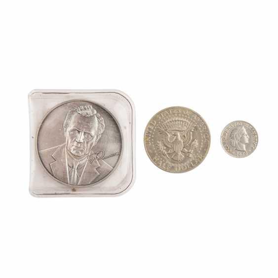 Collection of coins, silver coins theme - photo 4