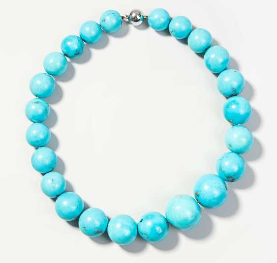 Turquoise Ball Chain Necklace - photo 1