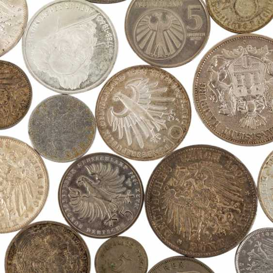 Mixed lot of silver coins, especially Germany, - photo 2