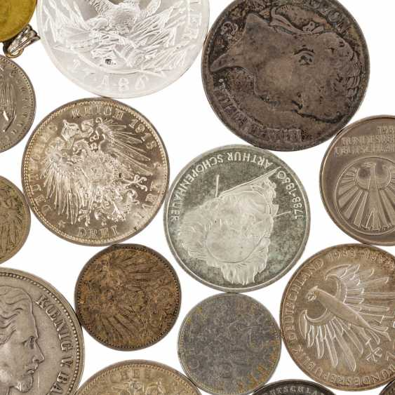 Mixed lot of silver coins, especially Germany, - photo 3