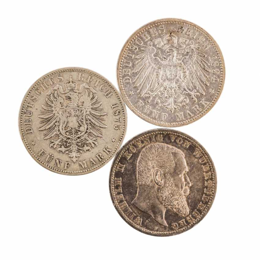 Mixed lot of silver coins, especially Germany, - photo 5