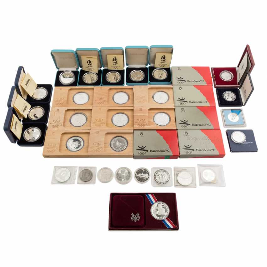 """Silver commemorative coins of the theme of """"Olympic games""""- - photo 1"""