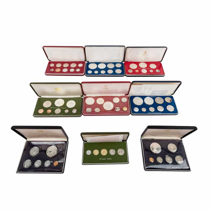 Colorful collection of 9 x Proof Sets - - photo 1