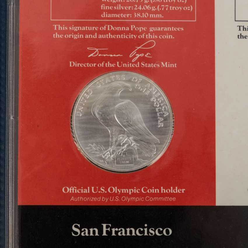Olympic Games 1984 - 8 Silver Dollars + 10 Dollars Gold, - photo 3