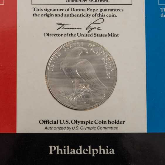 Olympic Games 1984 - 8 Silver Dollars + 10 Dollars Gold, - photo 4