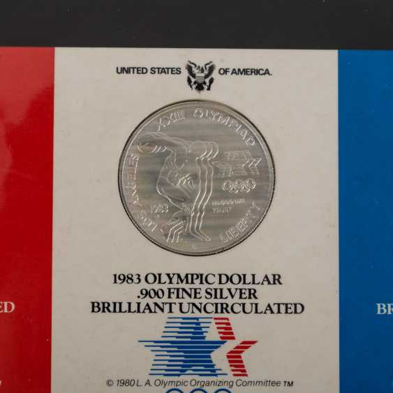 Olympic Games 1984 - 8 Silver Dollars + 10 Dollars Gold, - photo 5