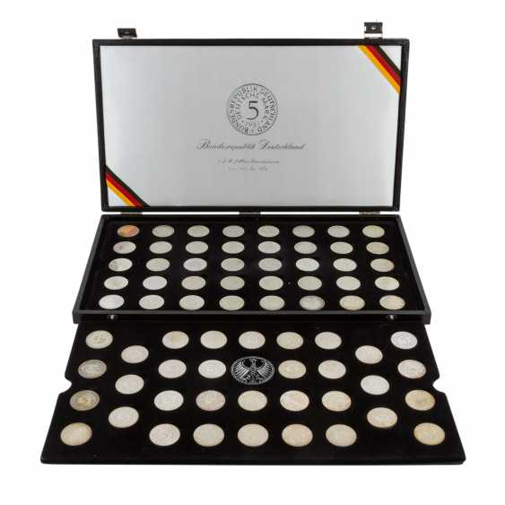 BRD / silver-eagle - collection of 73 x 5 DM coins - photo 1
