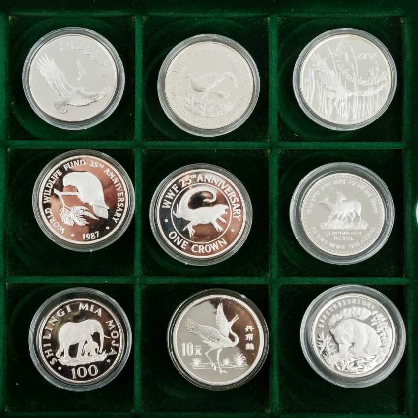 WWF - collection of 36 silver coins, - photo 3