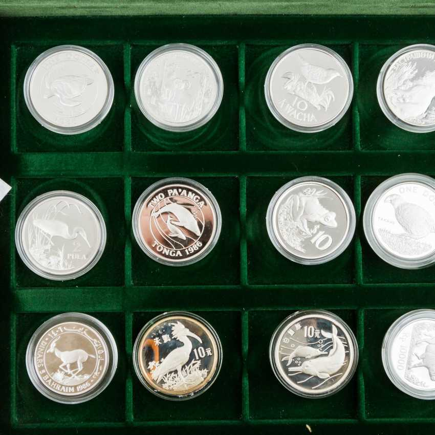 WWF - collection of 36 silver coins, - photo 5
