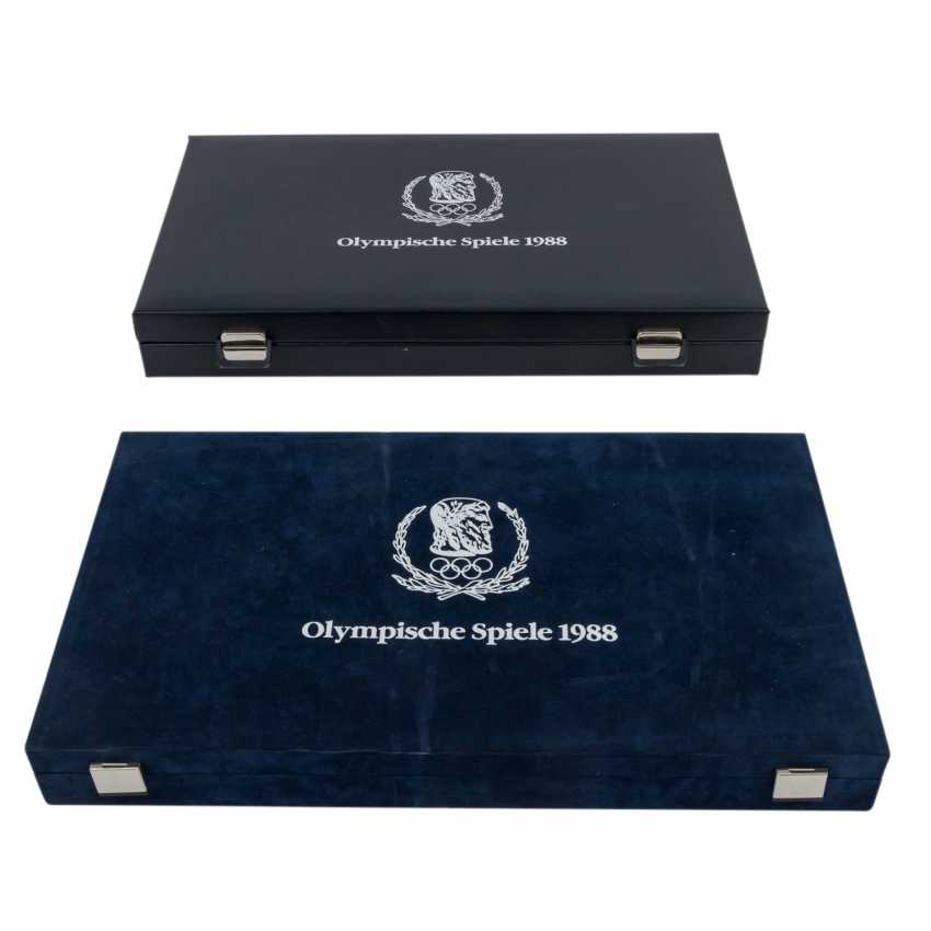Olympic games 1988 - collection in two special boxes, - photo 2