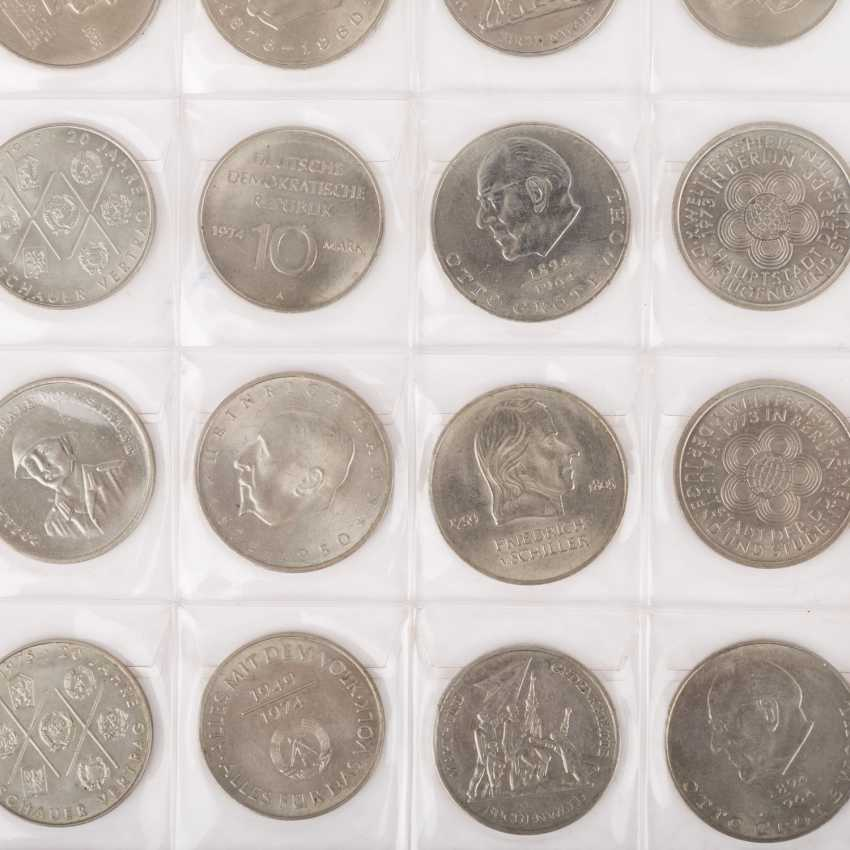 DDR - collection of 20, 10 and 5 Mark commemorative coins, - photo 2