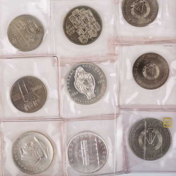 DDR - collection of 20, 10 and 5 Mark commemorative coins, - photo 3