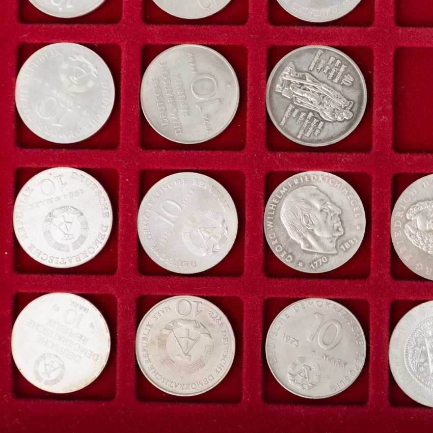 DDR - collection of 20, 10 and 5 Mark commemorative coins, - photo 4