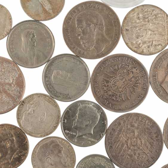 A mixed collection of coins and medals, with SILVER in the process - photo 3