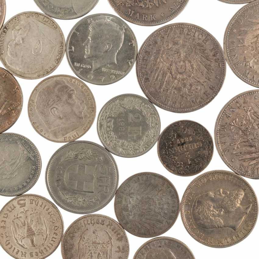 A mixed collection of coins and medals, with SILVER in the process - photo 4