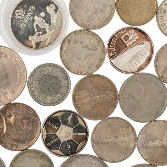 A mixed collection of coins and medals, with SILVER in the process - photo 5