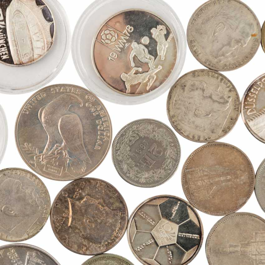 A mixed collection of coins and medals, with SILVER in the process - photo 6