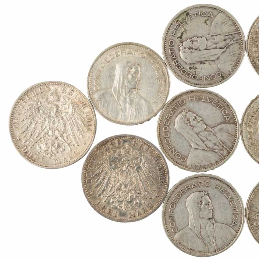 Historical collection of the United States, Switzerland, and Dt. Empire SILVER - - photo 4