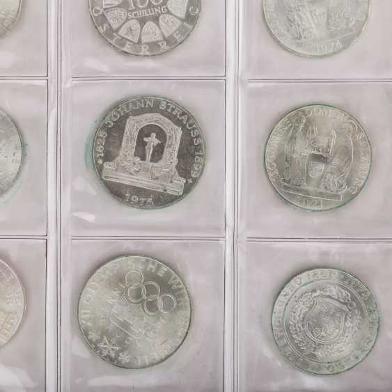 Silver solder with Austria, 500, 100, 50, 25 shillings, - photo 3