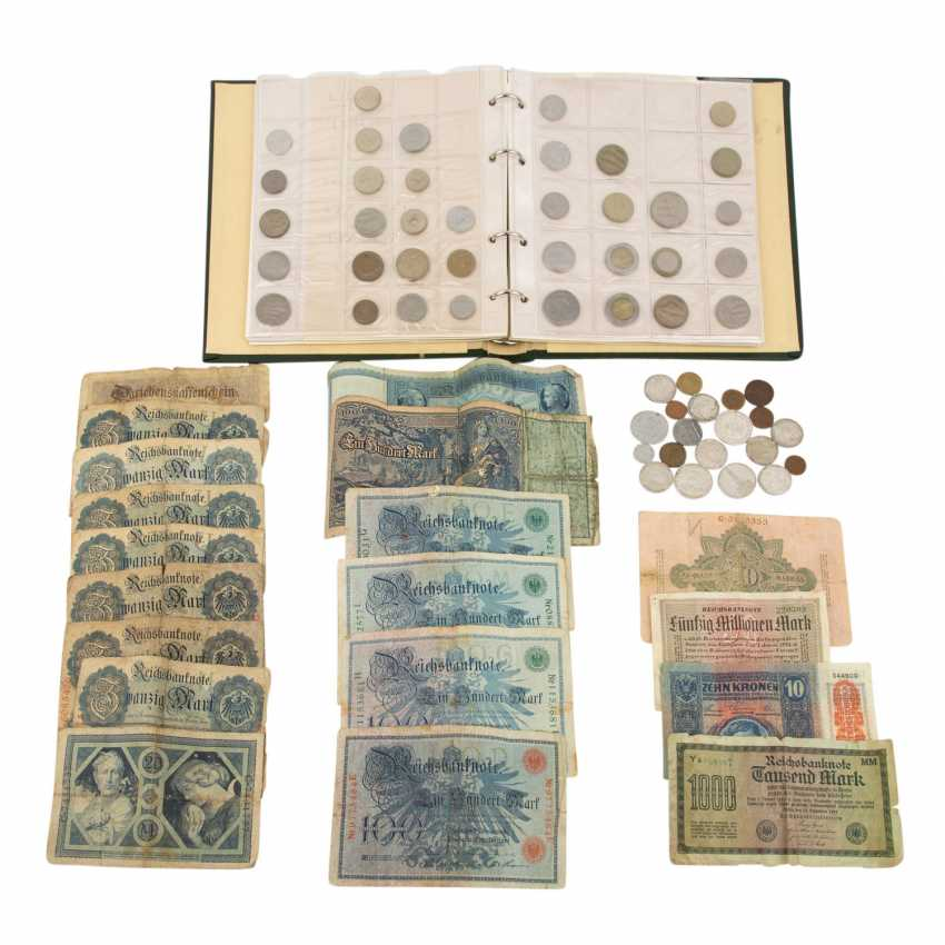 A mixed collection of coins and Bank notes - photo 1