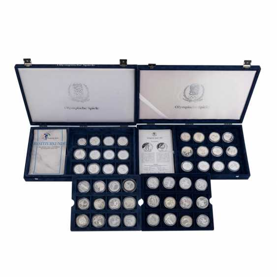 "2 Silver Coin Sets, ""The Olympic Games In 1992"" - - photo 1"