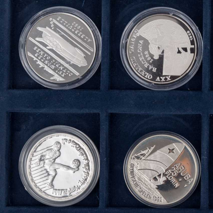 "2 Silver Coin Sets, ""The Olympic Games In 1992"" - - photo 2"