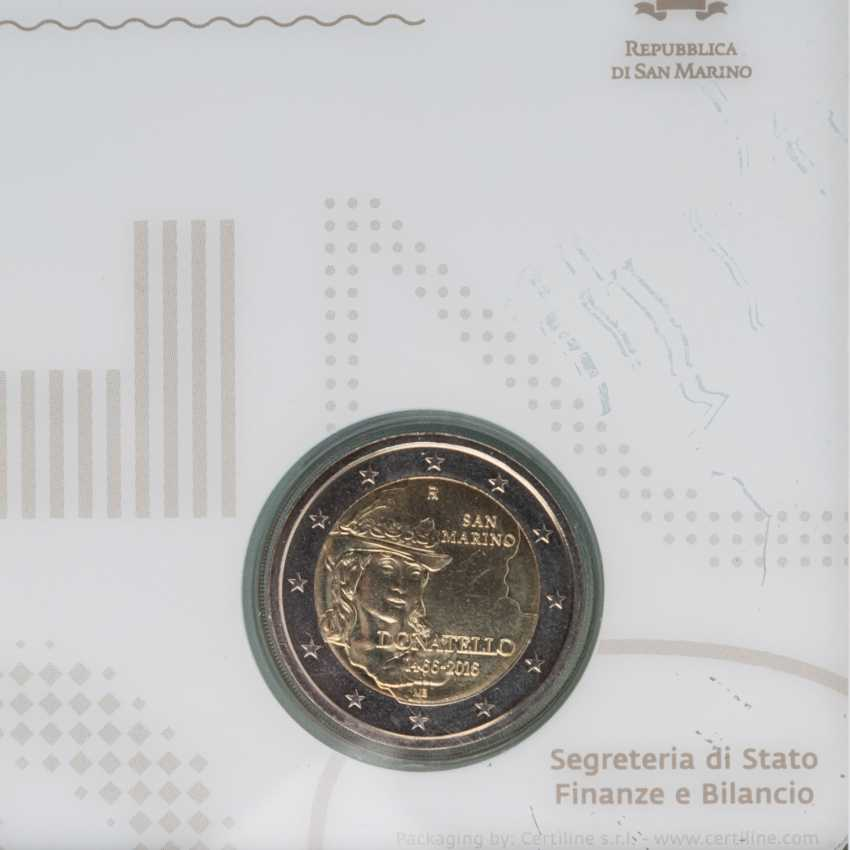 San Marino - 12 x 2 Euro aus 2008/17, - photo 4
