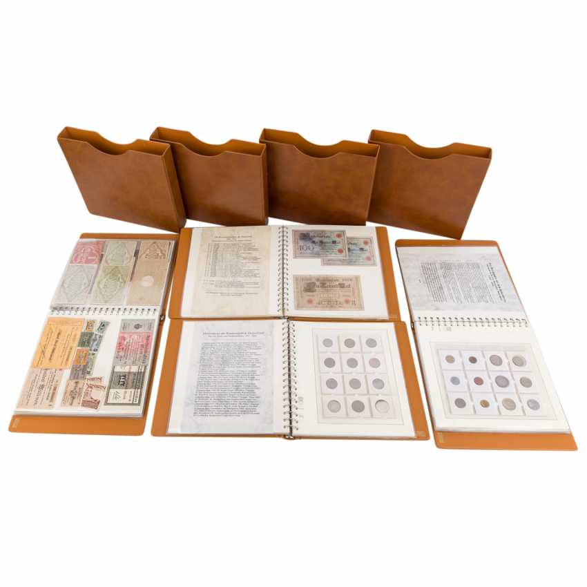 Collection of coins and Bank notes, Dt. Empire to Germany - - photo 1